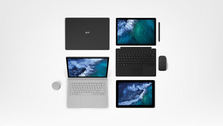 Dispositivos Surface e acessórios