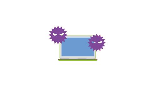マルウェアへの感染 未知のウイルスによる被害のイメージ