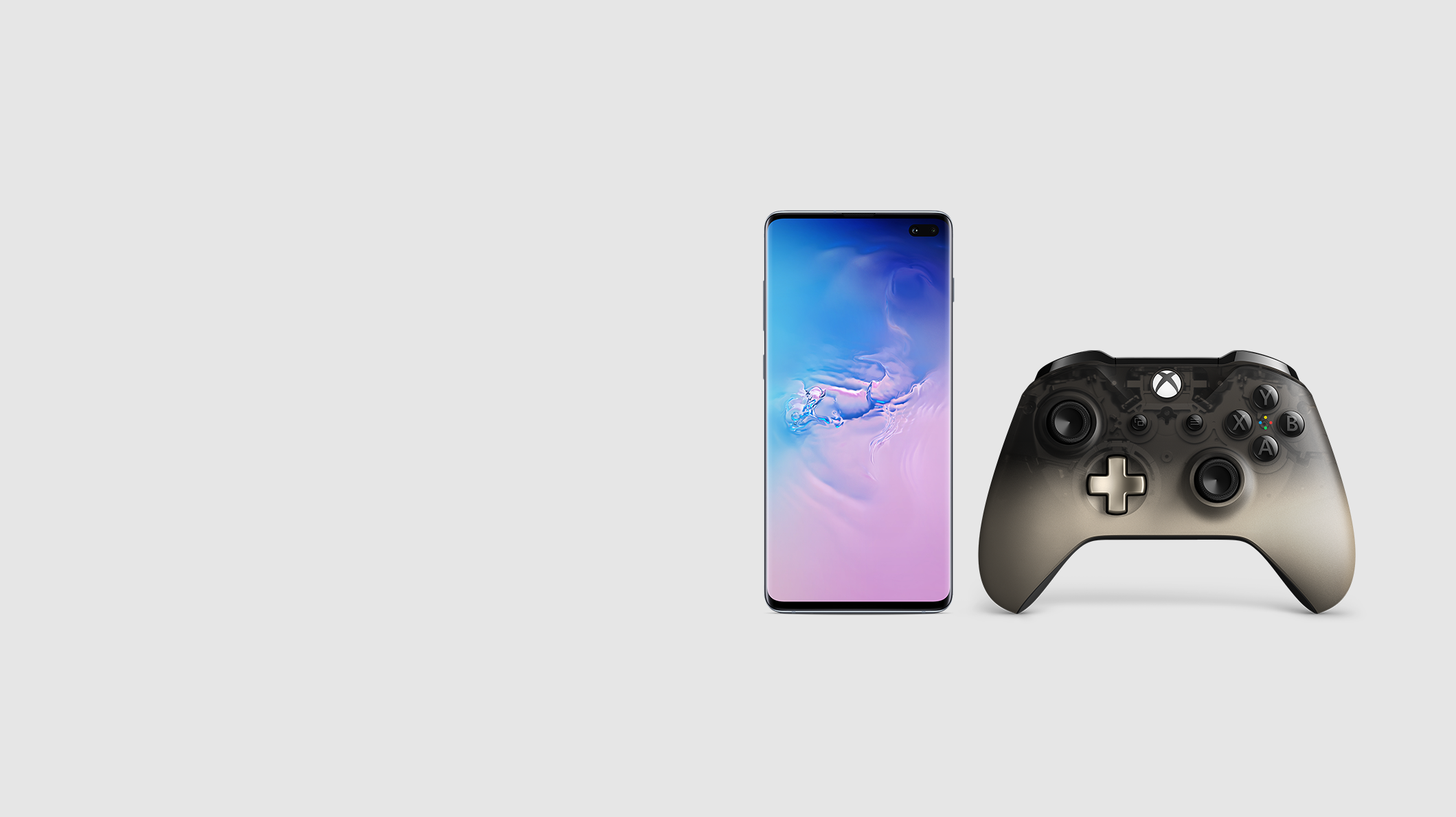 Samsung Galaxy S9+ phone and an Xbox controller.