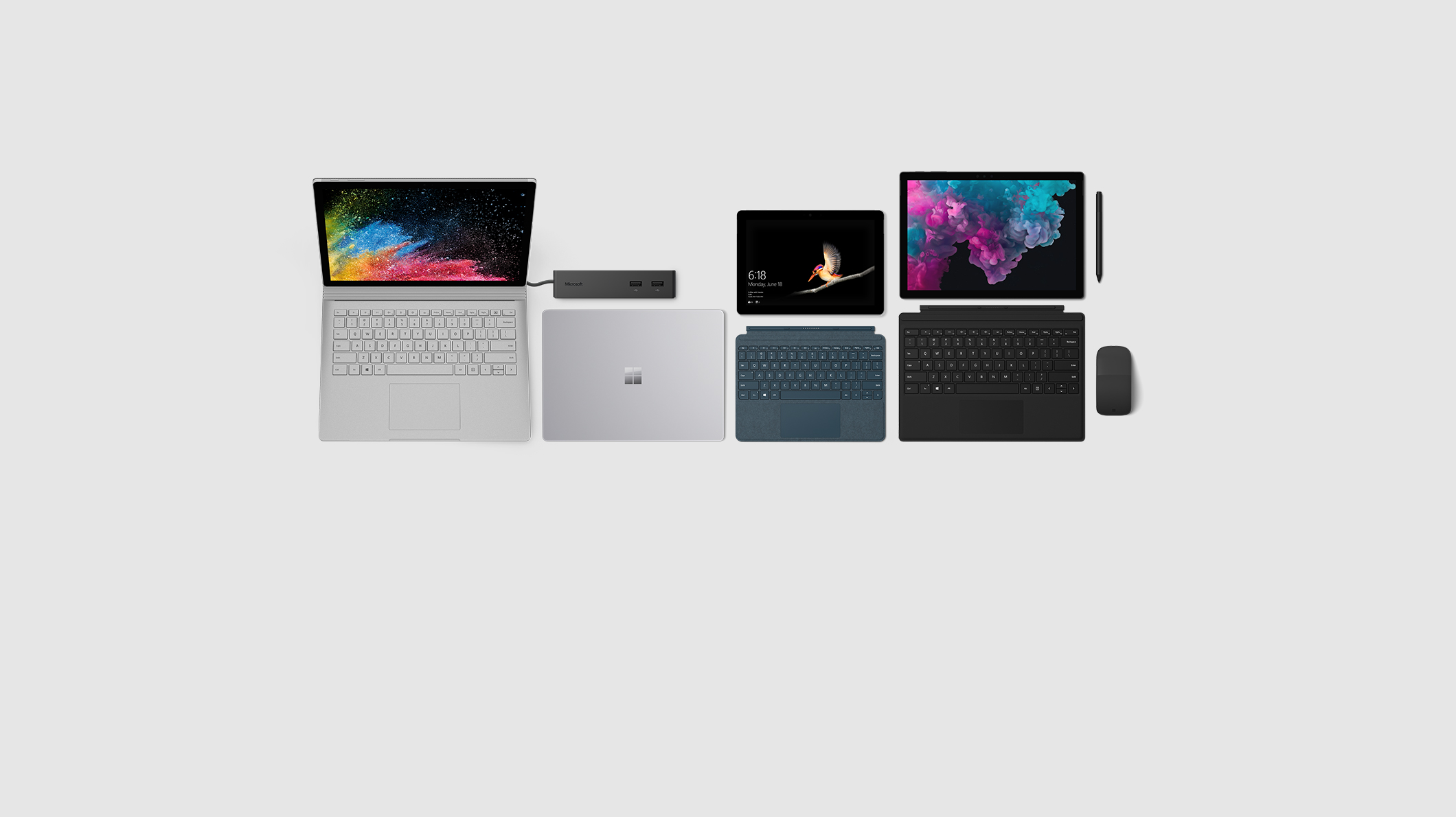 Surface Book 2, Surface Laptop 2, Surface Go, Surface Pro 6