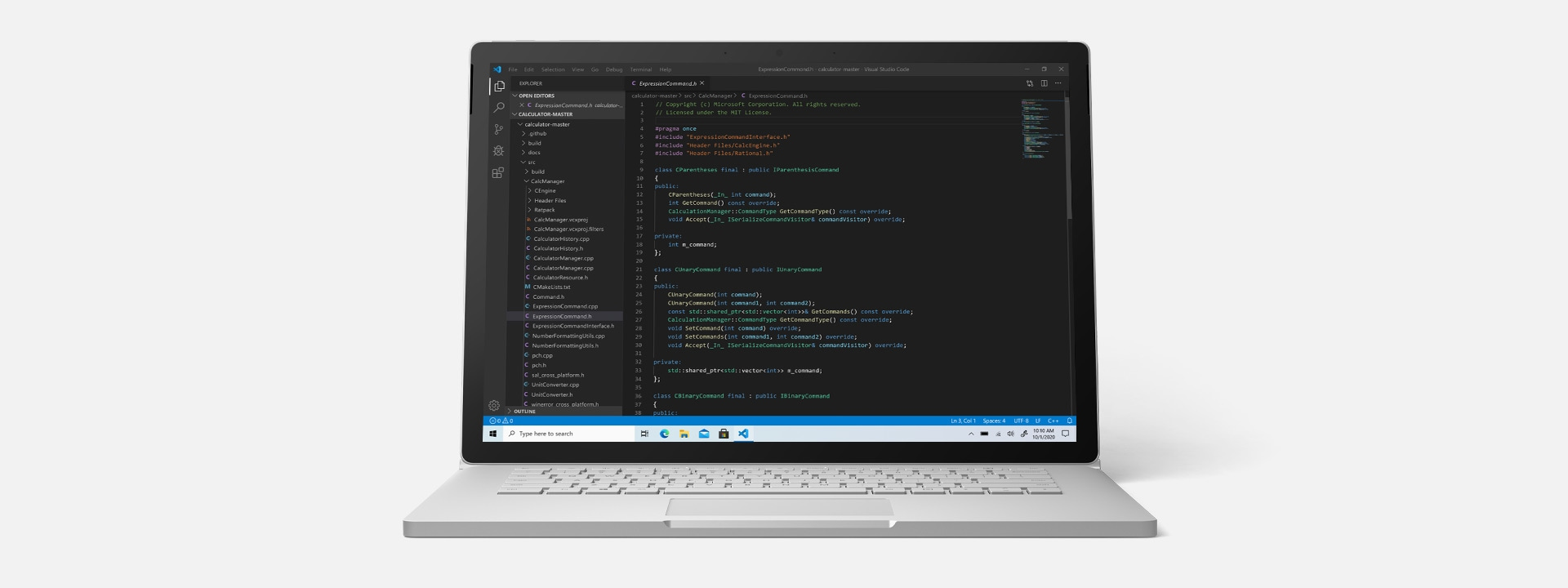 Surface Book 3 running Microsoft Visual Studio