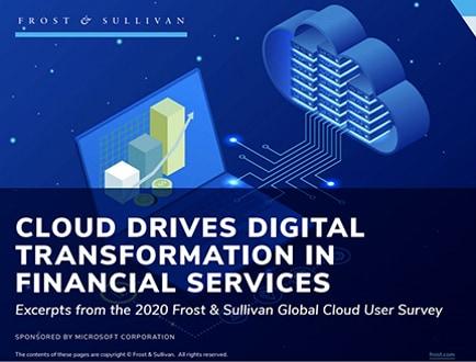 Zpráva snázvem Cloud podporuje digitální transformaci ve finančních službách.