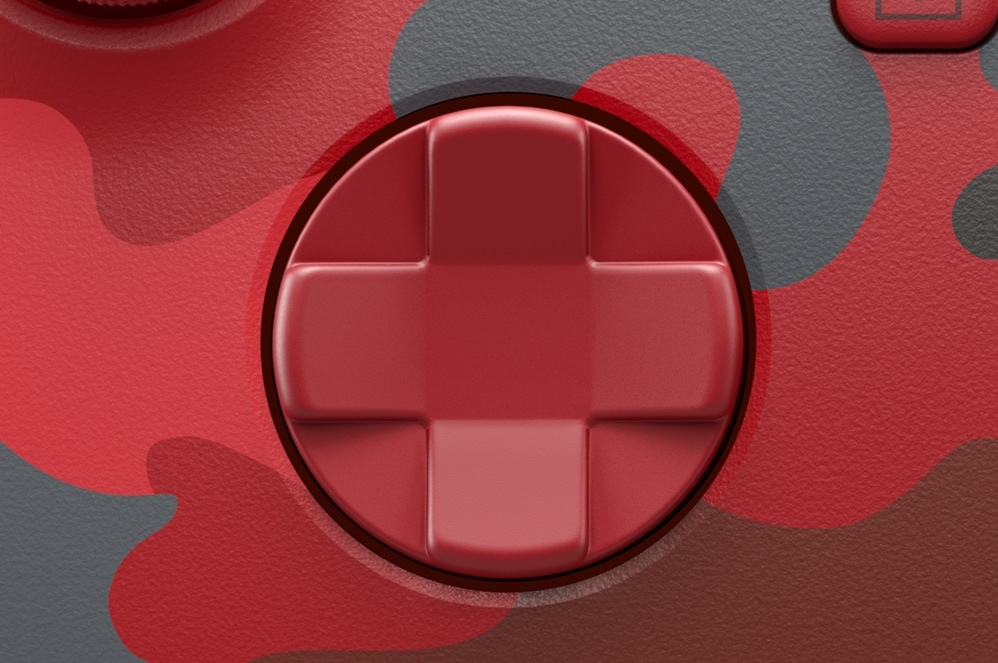 Close-up view of Xbox Wireless controller texture triggers