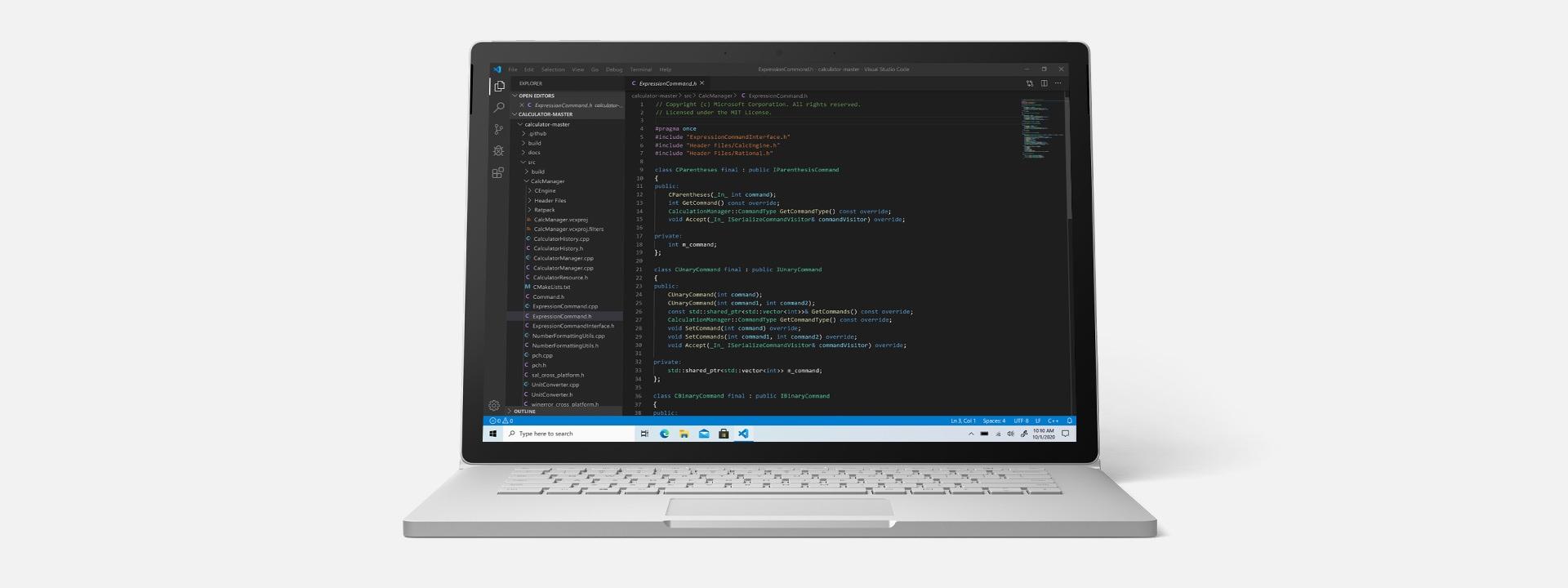 Surface Book 3 running Microsoft Visual Studio