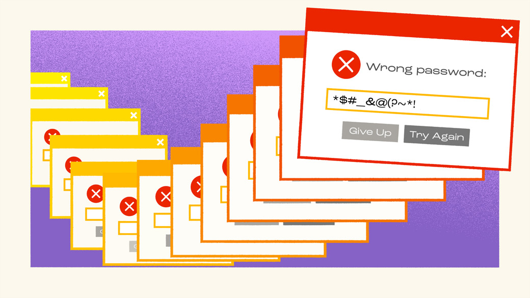 Illustration of online password dialog boxes