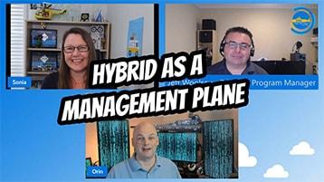"""Event """"Hybrid als Management-Ebene"""" von I T OPS Talks."""