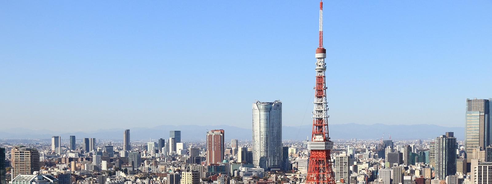 東京タワーと東京の風景
