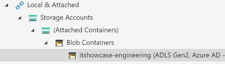 Azure Storage Explorer Local & Attached module.