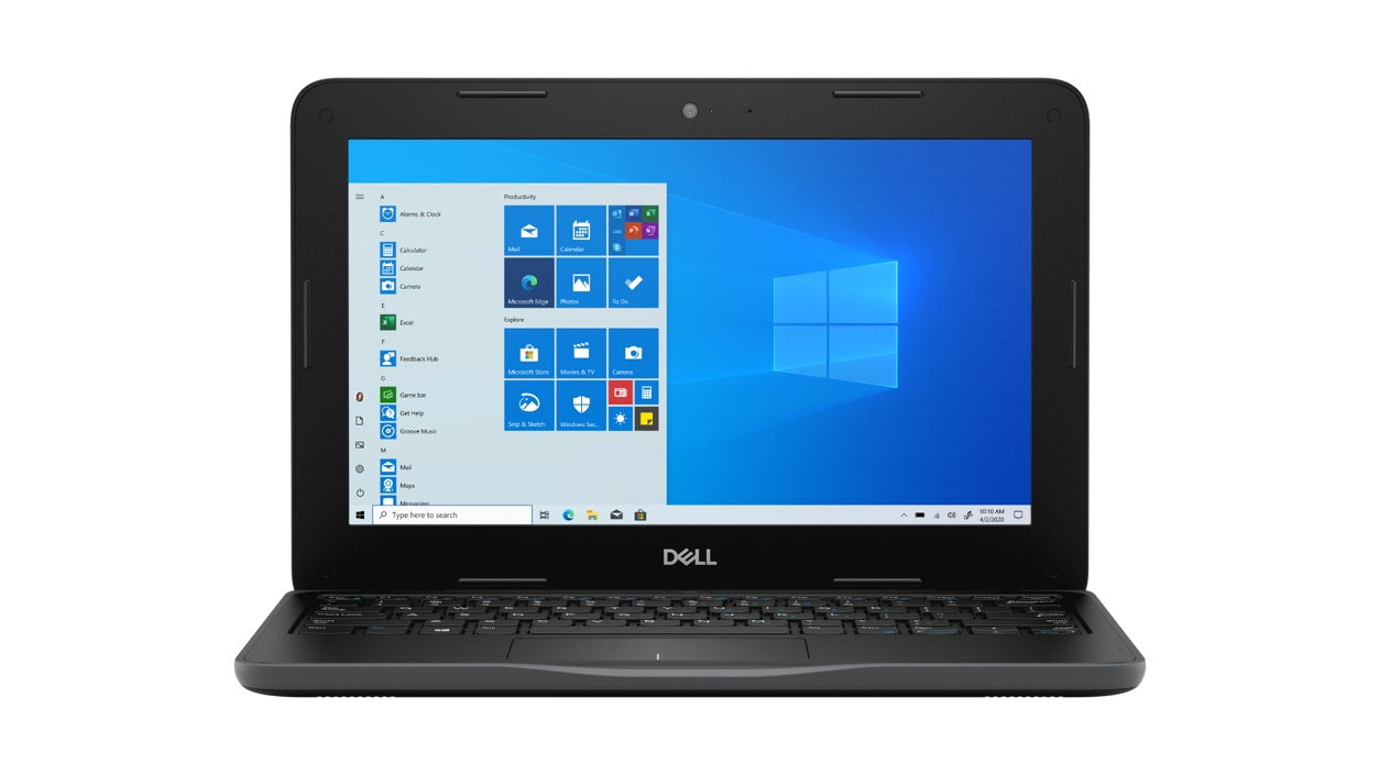 Front view of Dell Latitude 3190 Celeron N4120 Laptop