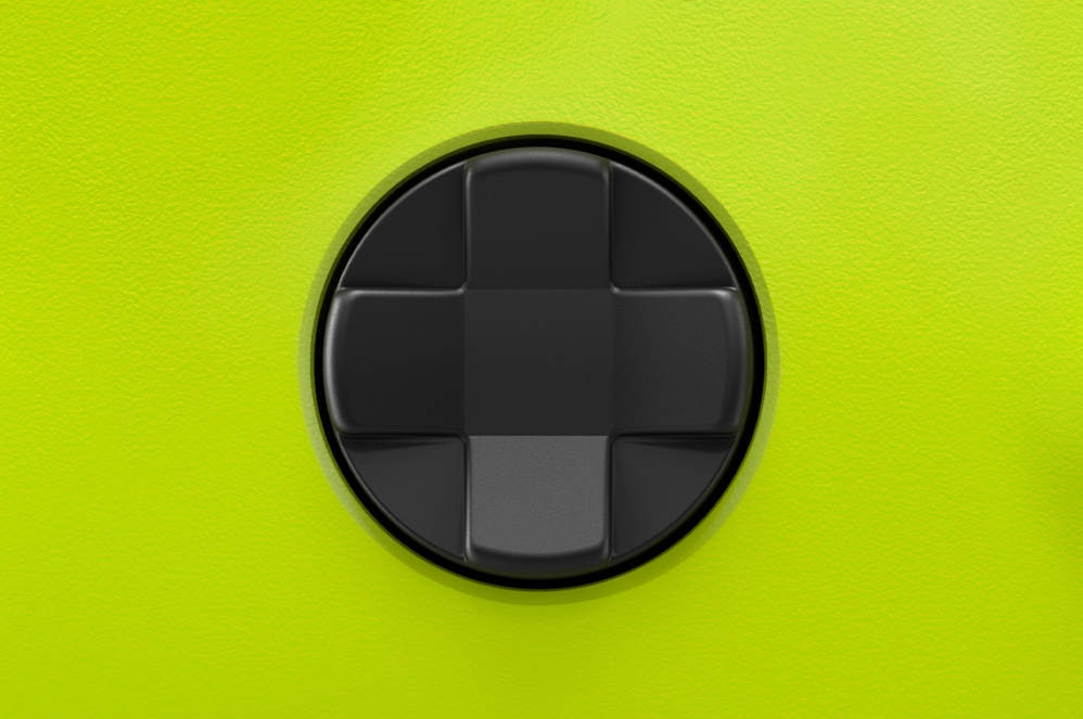 Close-up view of the all new Xbox Wireless Controller D-pad
