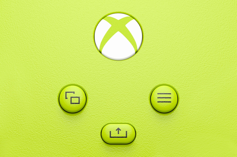 Close-up view of Xbox Wireless controller buttons