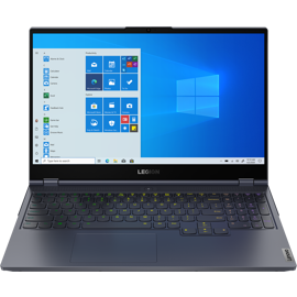 Front view of Lenovo Legion7 Laptop with Windows screen