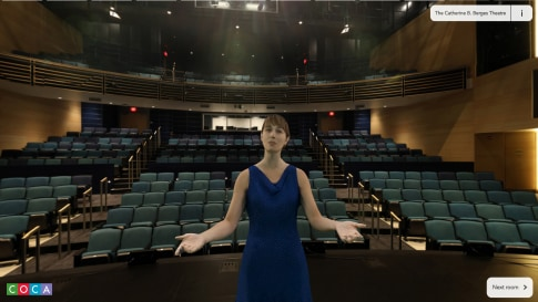Watch holographic tour guides in parts of COCA's St Louis' facility in WebVR