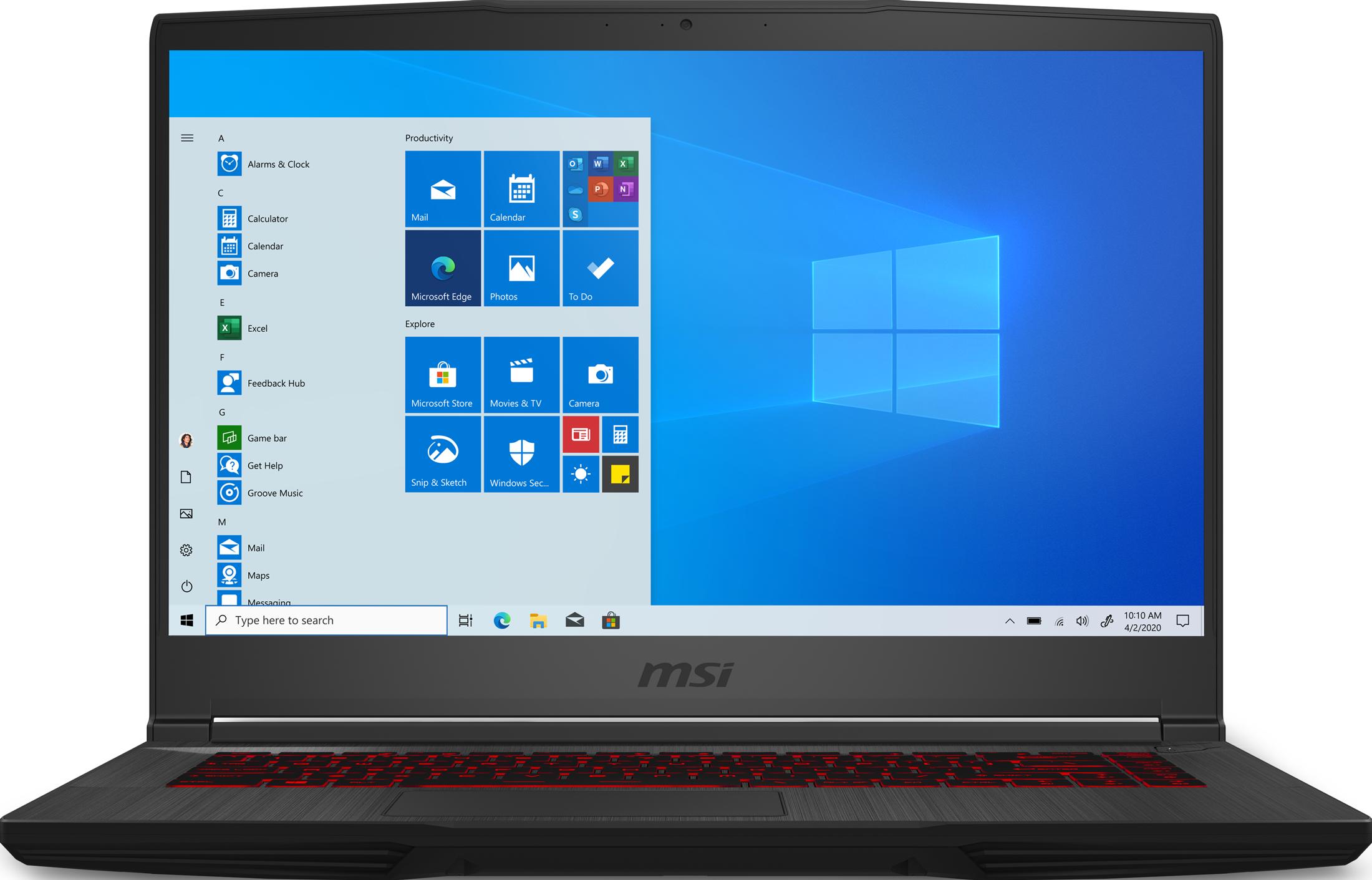 MSI GF65 Thin 15.6 Gaming Laptop 15.6-inch Full HD LCD Display Intel Core i7-10750H 16 GB memory/512 GB SSD NVIDIA RTX3060