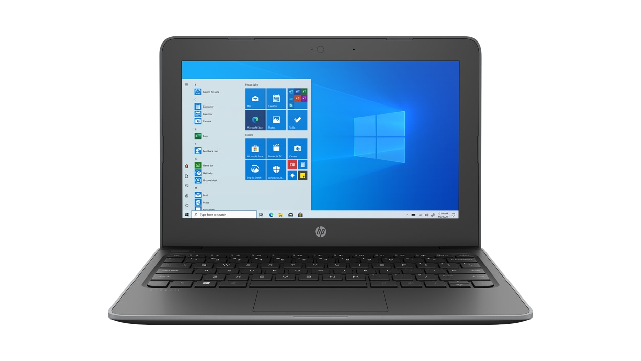 Front view of HP Stream Pro 11 G5 Notebook Laptop