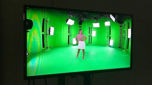 Behind the scenes look at The New York Times' fashion shoot at Metastage, an LA volumetric video capture studio, featuring plus-size model Ashley Graham